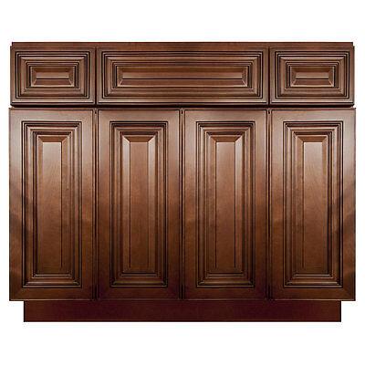 "48"" Bathroom Vanity Sink Base Cabinet Maple Geneva by LessCare"
