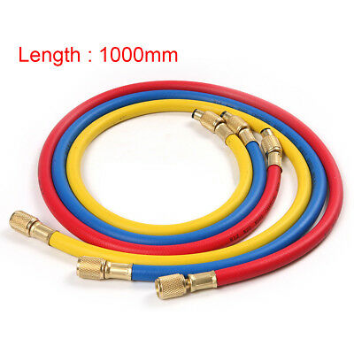 3pcs Hvac 14 - 14 Sae Charging Hoses Tube For R12 R22 R502 Ac Refrigerant C