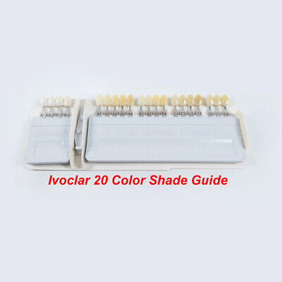 Ivoclar Vivadent Dental Teeth Shade Guide A-d 20 Color Porcelain Based On Vita