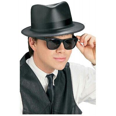 Singin' the Blues Brothers Black Costume Fedora Hat and Wayfarer Sunglasses Set ()