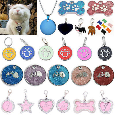 Crystal Pet Collar Charm (Rhinestone Crystal Pet Puppy ID Tag Collar Neck Personalized Dog Cat Name Charms )