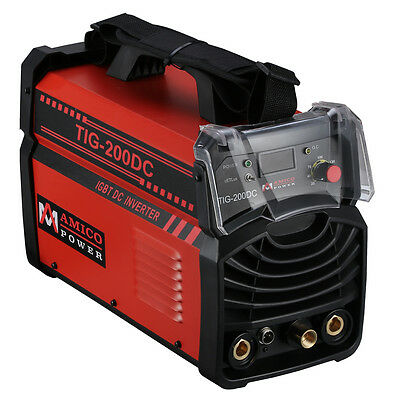 Tig-200dc 200 Amp Tig Torch Stick Arc Dc Inverter Welder 115230v Welding New