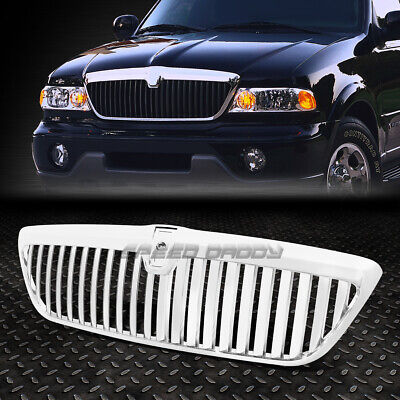FOR 98-02 LINCOLN NAVIGATOR UN173 CHROME ABS FRONT BUMPER SPORTS GRILLE GUARD - Lincoln Navigator Bumper Grille