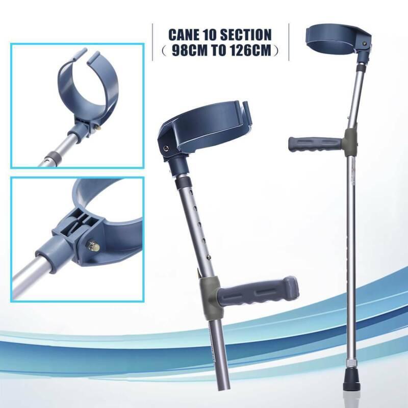 2Pcs Adjustable Underarm Forearm Elbow Crutches Walking Stic