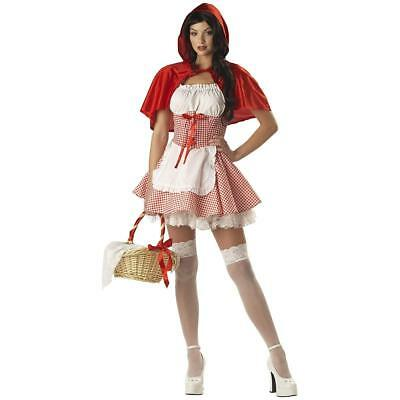 Sexy Little Red Riding Hood (Little Red Riding Hood Adult Sexy 2 Pc Red & White Check Dress & Hooded Cape )