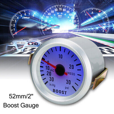 2'' 52mm Digital LED 30 PSI Turbo Boost Gauge Meter Vacuum Press Car Auto Dials