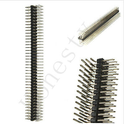 1pc 90 Degree 2.54mm 3x40p Male Pins Three Row Right Angle Pin Header Connector