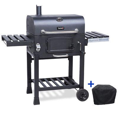 TAINO Hero XL Smoker BBQ Grillwagen Holzkohle Abdeckung Standgrill Grill Kohle