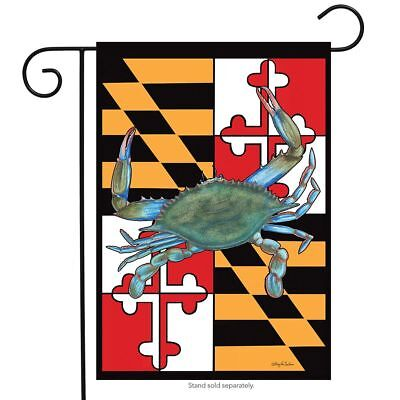 maryland summer garden flag crabs nautical 12