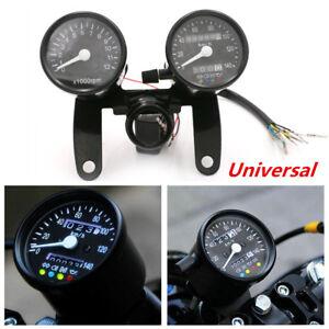 Motorcycle Speedometer Odometer Tachometer Gauges For Bobber Chopper Cafe Racer