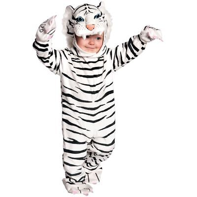 Kids, Toddlers, Halloween Animal Costume - WHITE TIGER Fancy Dress Brand NEW