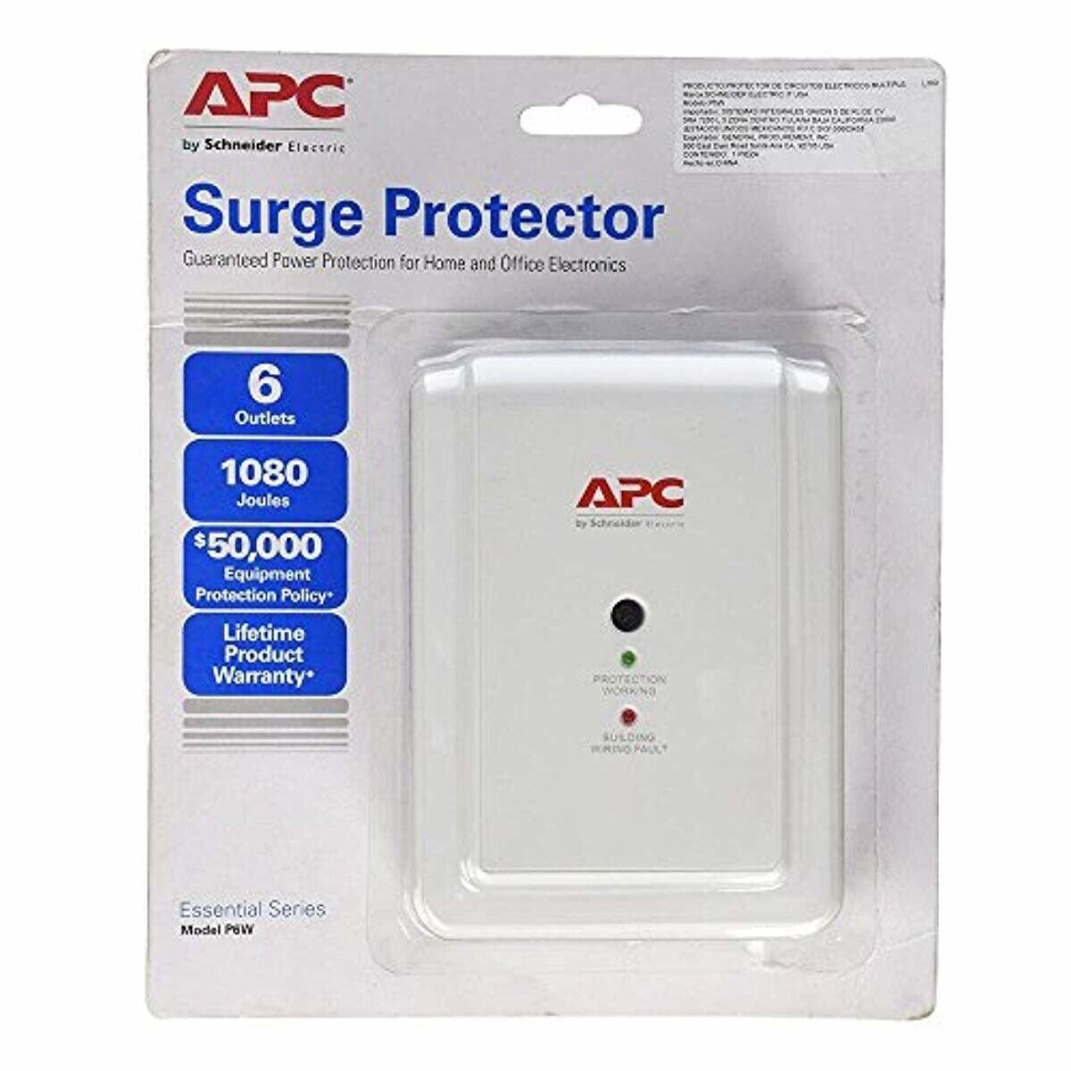 APC 6-Outlet Wall Surge Protector 1080 Joules, SurgeArrest E