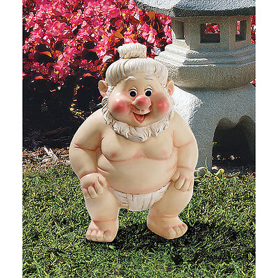 - Sumo Wrestler Gnome Far East Garden Fighter Statue