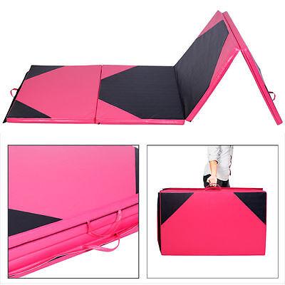 10FT Fold Exercise Yoga Gymnastics Mat PU Soft Tumble Play Crash Safety