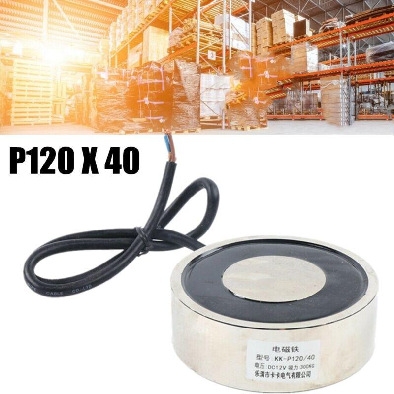 Solenoid Lift Holding Electromagnet Electric Lifting Magnet P120X40 12V DC 200kg