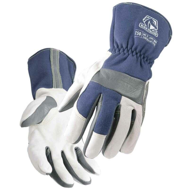 Black Stallion TIGster T50 Premium Goatskin FR Cotton TIG Welding Glove Large