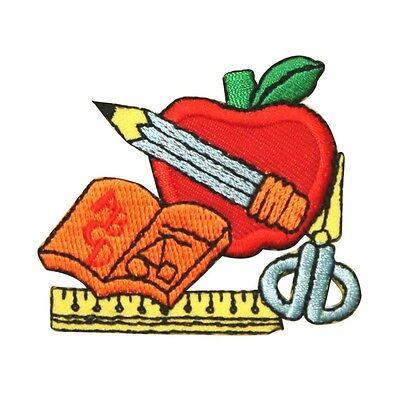 Id 0952 School Apple Class Teacher Kids Embroidered Iron On Applique Patch