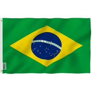 ANLEY Brazilian Flag Brazil National Banner Polyester 3x5 Foot Country Flags