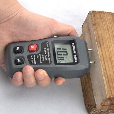 Digital LCD Humidity wood Moisture Meter 0-99.9% Firewood El