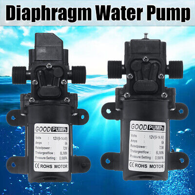 12v 130psi 6lmin Water High Pressure Diaphragm Self Priming Pump Automatic 70w