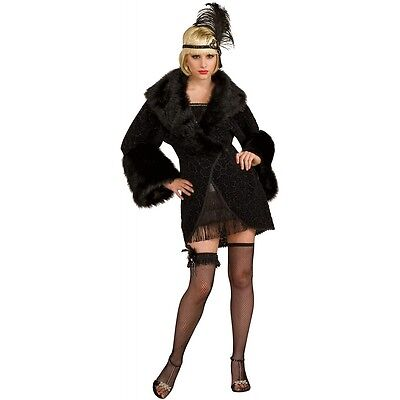 Adult 20's Flapper Coat Great Gatsby Costume Halloween Fancy - 20 Costumes