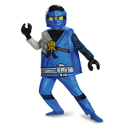 Jay Ninjago Costume (Jay Deluxe Ninjago Blue LEGO Child Costume | Disguise)