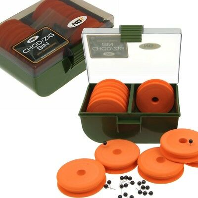Chod Zig Rig Bin Box + 10 EVA Winders NGT (950) Tackle Box Carp Fishing