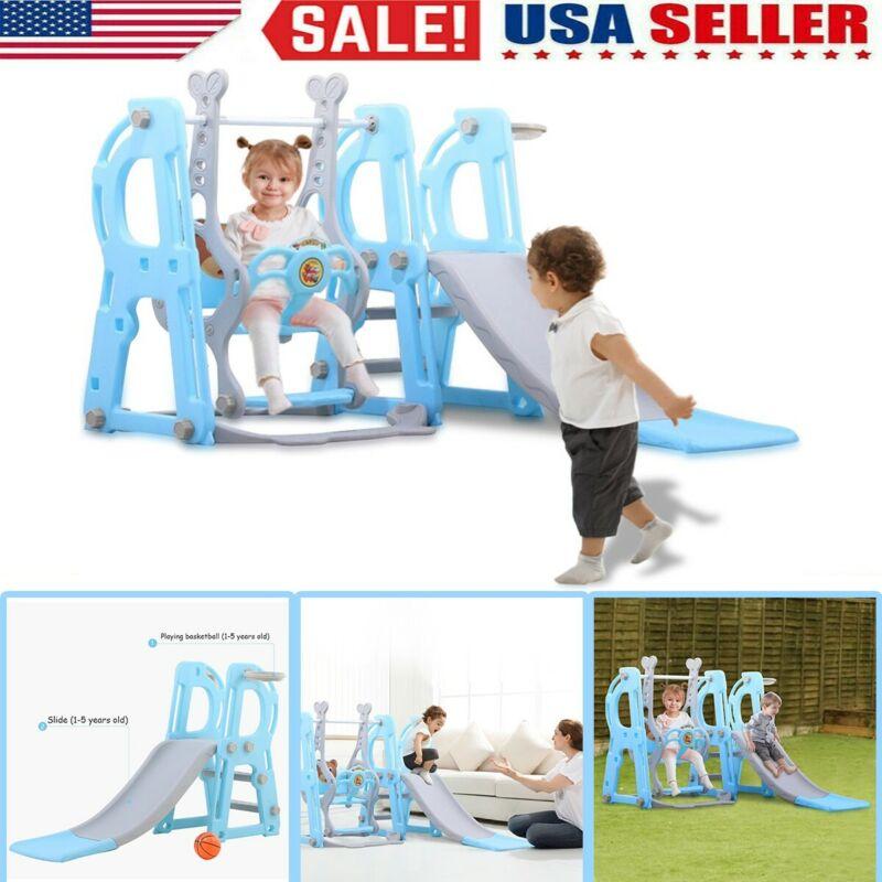 Swing Set For Small Yard Backyard Playground Slide Fun Plays