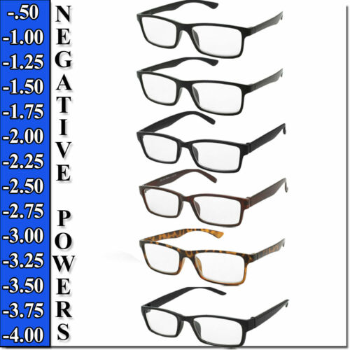 Nearsighted Reading Glasses Negative Power Readers Eyecare Myopia Unisex Readers