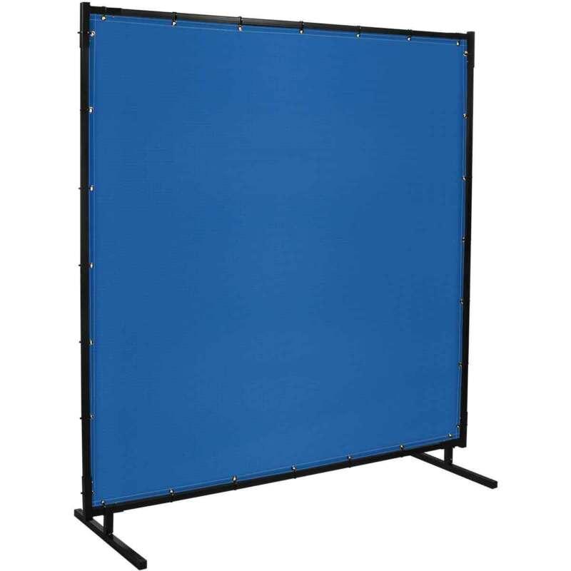 Steiner 535HD-6X10 Protect-O-Screen HD Blue Vinyl Welding Curtain Frame
