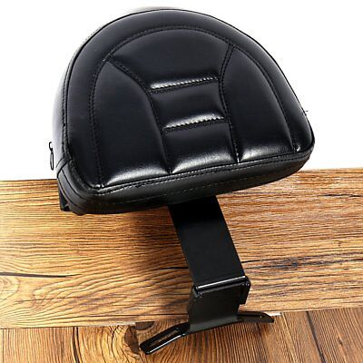 US Fixed Black Plug-In Driver Backrest For Harley Fatboy Heritage Softail 07-17
