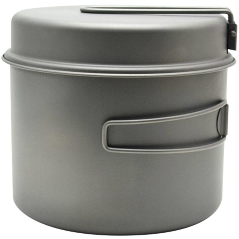 TOAKS Titanium Outdoor Camping Cook Pot with Pan and Foldable Handles - 1600ml