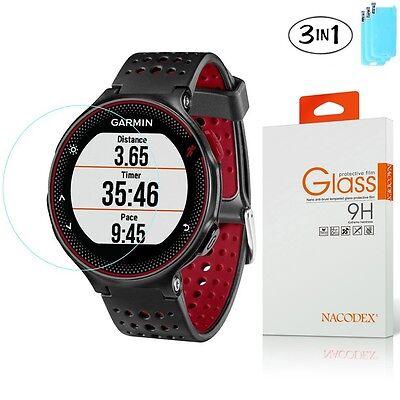 3x Nacodex Tempered Glass Screen Protector for Garmin Forerunner 225 220 230 235