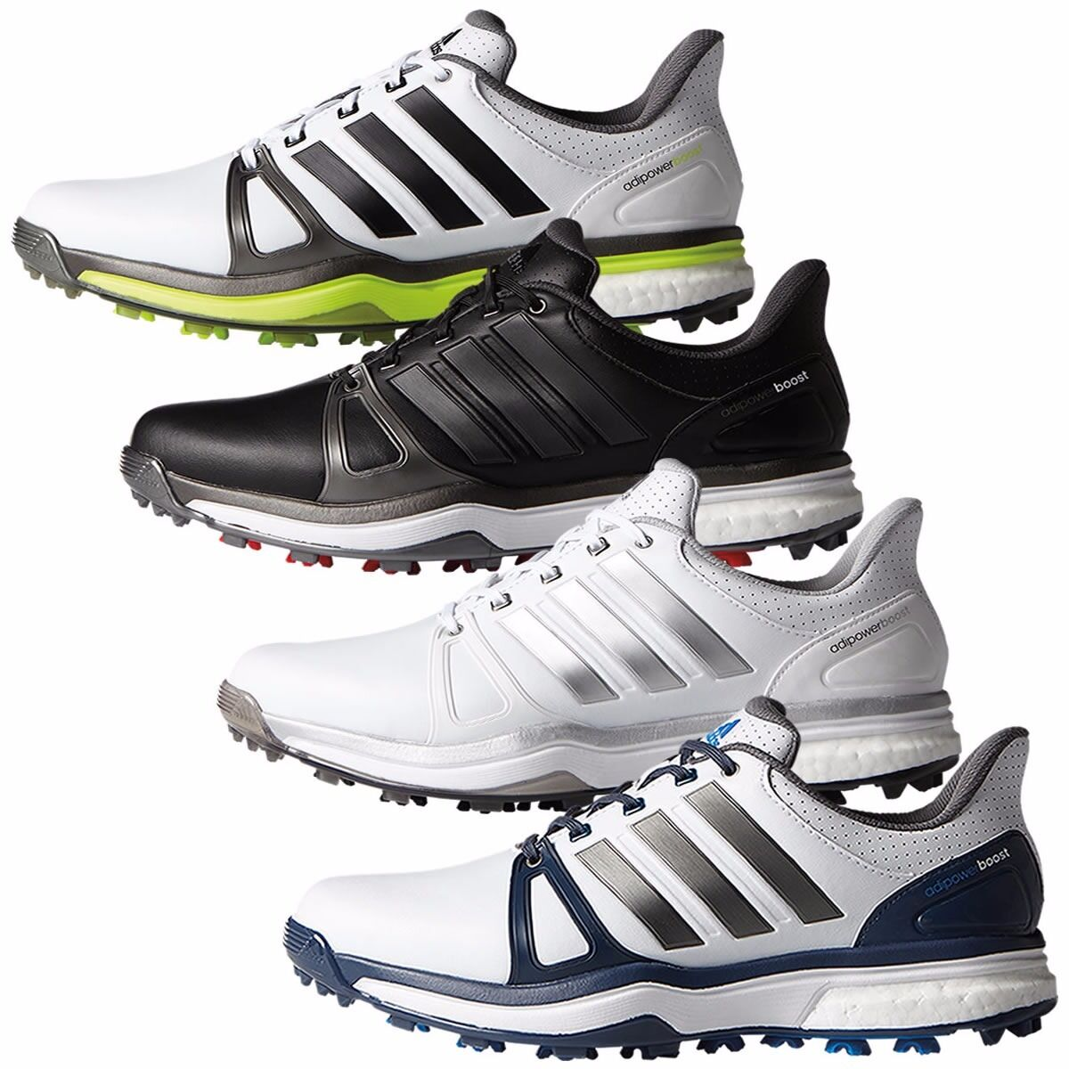Adidas AdiPower Boost 2 Golf Shoes Mens New Med & Wide Sizes