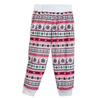 Disney Santa Mickey Mouse Ear Hat Fair Isle Pajama Pants for Kids Toddler Size 2