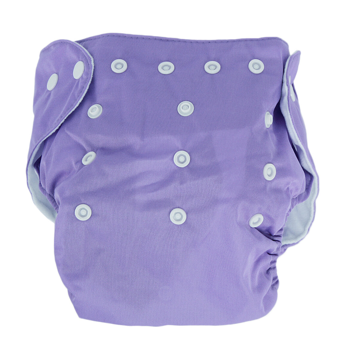 5pcs+ 5Inserts Adjustable Reusable Baby Washable Infant Nappy Soft Cloth Diapers Purple