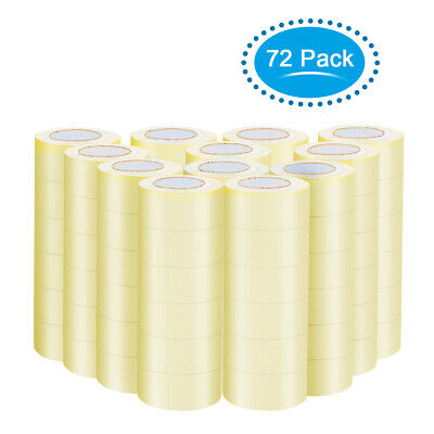 72 Rolls Clear Tape for Box Shipping Packing Package 1.9