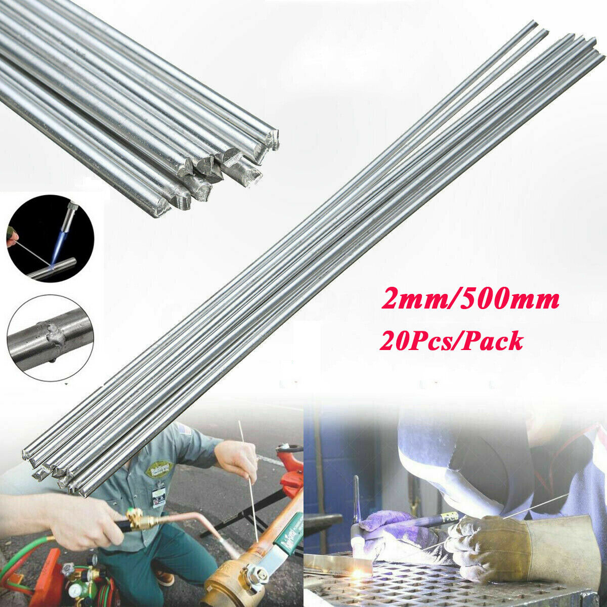 USA Easy Aluminum Welding Rods Wire 1.64ft Shipping Free 10//20//30//50PCS Brazing–