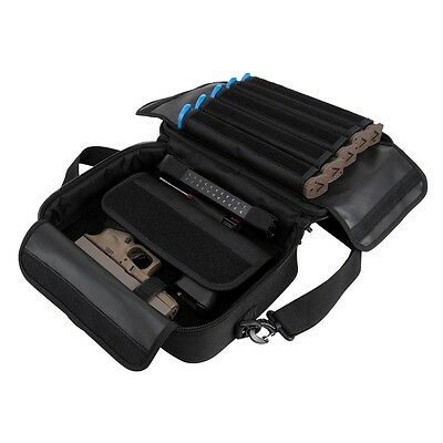NcStar VISM Padded Double Pistol Range Bag w/Double Stack Magazine Pouches BK