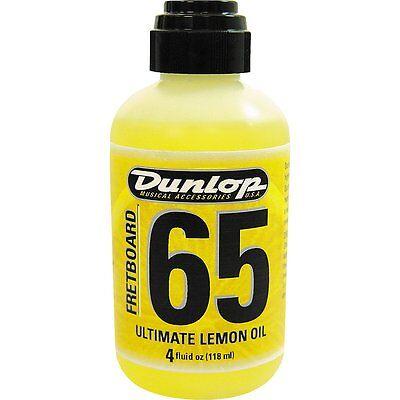 Jim Dunlop 6554 Dunlop Ultimate Lemon Oil  4 Oz For Guitar Fretboards