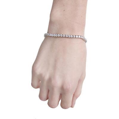 CZ by Kenneth Jay Lane Womens Silver Round Tennis Bracelet Jewelry O/S BHFO 1361