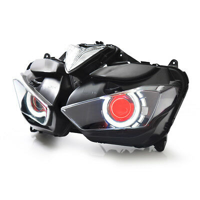 KT LED  Headlight Assembly for Yamaha YZF R25 2015 2016 2017 2018 Red