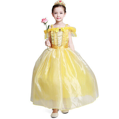 Girls Princess Belle Costume Halloween Party Fancy Dresses Up girls' dress](Princess Halloween Costumes)
