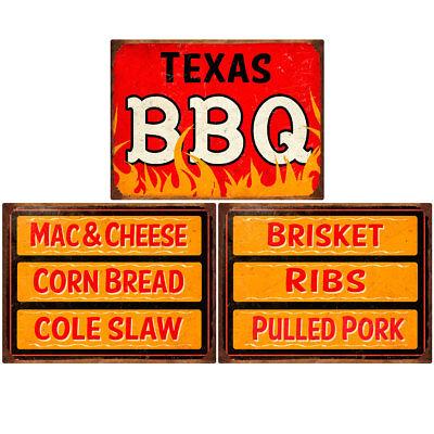 Texas BBQ Southern Sides Menu Wall Decal Set 12 x 16 Kitchen Decor