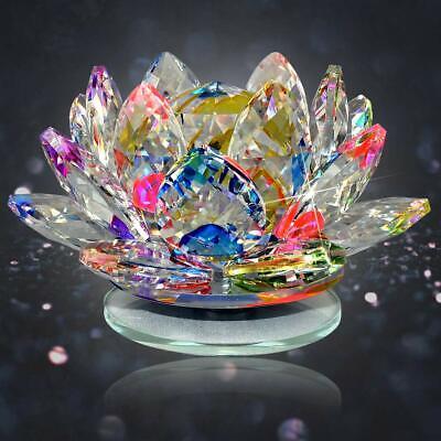 Vastu - Feng Shui Transparente Cristal Lotus Para Energía Positiva Suerte