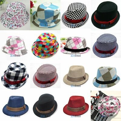 Baby Girl/Boy Toddler Kid Cap Fedora Hat Jazz Cap Photography Cotton Trilby Top - Fedora Hat Girl