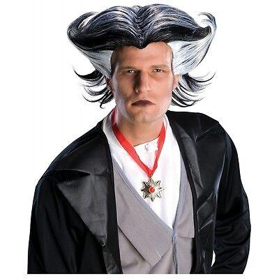 Mens Vampire Wig (Dracula Wig Adult Mens Vampire Grandpa Munster Halloween Costume Fancy)