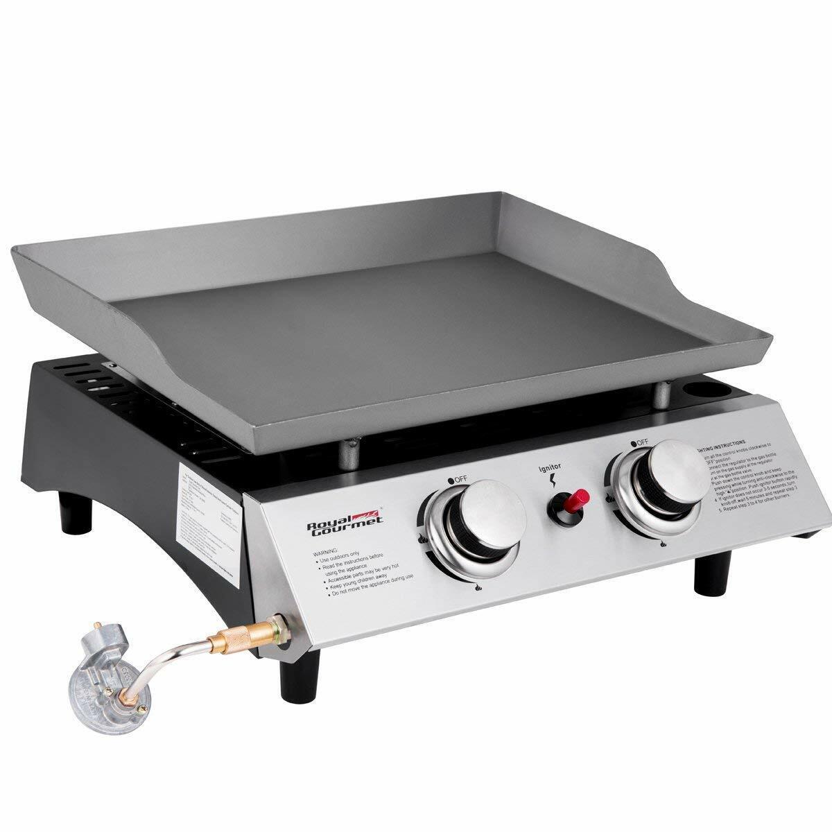 Royal Gourmet BBQ Propane Gas Grill 2 Burner Tabletop Campin