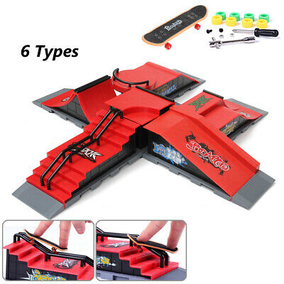 Skate Park Ramp Parts Handrail For Tech Deck Fingerboard Finger Board Kit Gifts