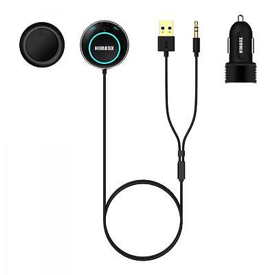 iClever Himbox HB01 Bluetooth 4.0 Hands Free Car Kit with 3.5mm Aux Jack ... New